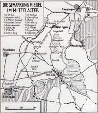Ein Plan von Riegel und Nidingen im Mittelalter.